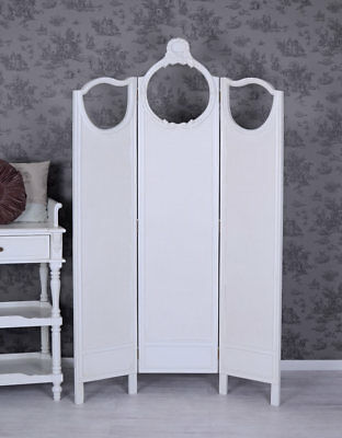 Screen Antique Paravent White Spanish wall divider shabby chic