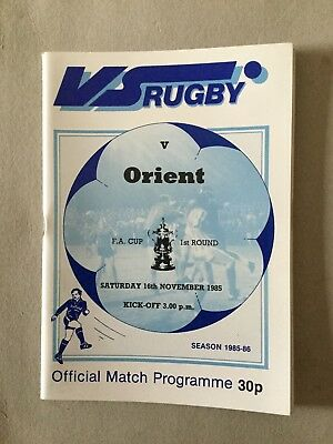 VS RUGBY v ORIENT ( FAC ) 1985/6.