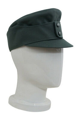 WWII German Mountaineer EM Gabardine field cap small visor field grey L