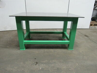 """1/"""" Steel Fab Machine Welding Layout Table Work Bench 36/"""" x 54/"""" x 1/"""" Thick Top"""