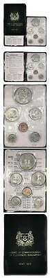 Singapore Board of Commissioners of Currency Official Mint Set 1969 6 Coins KM-M