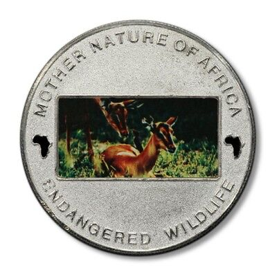 Malawi Mother Nature of Africa Deer & Fawn 10 Kwacha 2004 Proof Color Crown KM-8