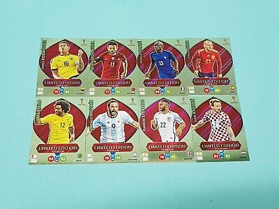 Panini Adrenalyn World Cup Russia 2018 WM  Set 6 - 8 x Limited Edition