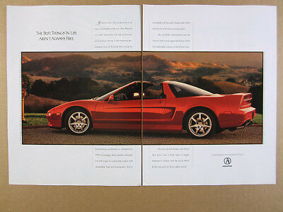 1995 Acura NSX-T targa top red car photo vintage print Ad