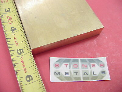 "1/2"" x 3"" C360 BRASS FLAT BAR 5"" long Solid Plate Mill Stock H02 .50"" x 3.0""x 5"""