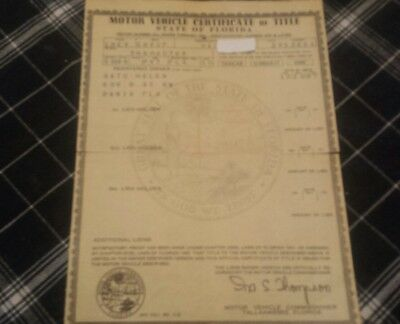 1950 Chevy CNVCPE 50 Vintage Barn Find Historical Paperwork Document Hot Rat Rod