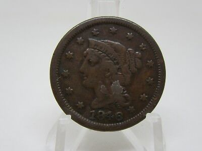 1846 Coronet Head Large Cent - Small Date - Very Fine