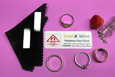 Two Pack: HEAVY DUTY RARE EARTH NEODYMIUM (PRO) GOLD & SILVER TEST MAGNETS KIT