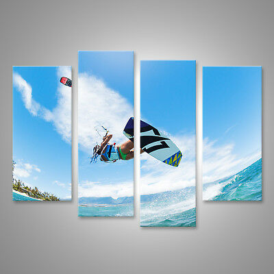 Canvas Wall Art Kiteboarding, fun in the ocean, extreme sports CAF-4erP