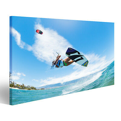Canvas Wall Art Kiteboarding, fun in the ocean, extreme sports CAF-1K