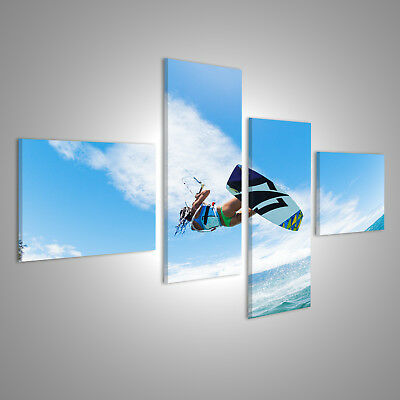 Canvas Wall Art Kiteboarding, fun in the ocean, extreme sports CAF-4LP