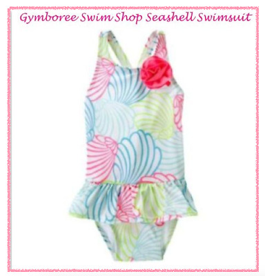 *nwt* Gymboree Little Girls Size 3T Swim Shop Seashell Rosette 1-Pc Swimsuit