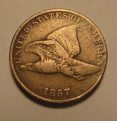 1857 Flying Eagle Cent Penny - Very Fine Condition - 20SU