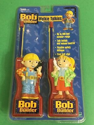 Bob the Builder Walkie Talkies by Hasbro 2001 Brand New Hard to find