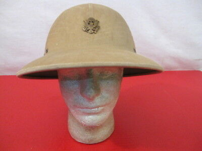 post-WWII US Army Hawley Tropical Pith or Sun Helmet Complete w/Cap Badge - 1948