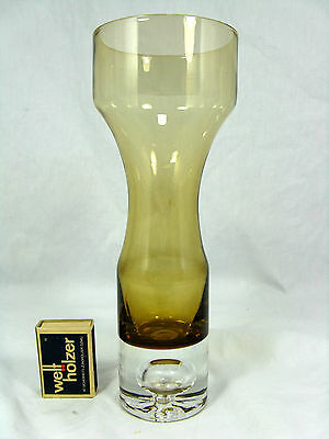 Well shaped # formschöne 60´s ASEDA  Bo Borgström design glass vase 23,5 cm