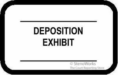 DEPOSITION EXHIBIT 2 Lines Labels Stickers White  492 per pack