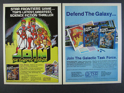 1982 TSR Star Frontiers RPG Role-playing Game 2 vintage print Ads