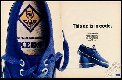 1968 Keds Official Cub Scout shoes photo Uniroyal BIG vintage print ad