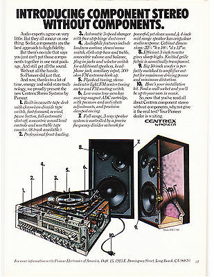 Original Print Ad-1977 CENTREX by PIONEER-Component Stereo Without Components…
