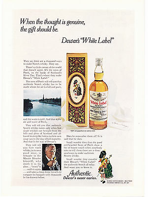 "Original Print Ad-1972 When the thought is genuine….Dewar's ""White Label"" Scotch"