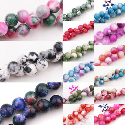 6-10mm Natural Jade Stone Gemstone Round Spacer Loose Beads DIY Jewelry Making