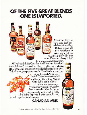 Original Print Ad-1970 CANADIAN MIST-OF THE FIVE GREAT BLENDS ONE IS IMPORTED