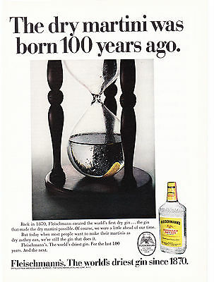 Original Print Ad-1970 The dry martini was born 100 years ago. FLEISCHMANN'S GIN