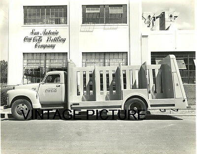 Coca Cola Soda Truck Photo Vintage 1950-60S Pop San Antonio Bottling Company