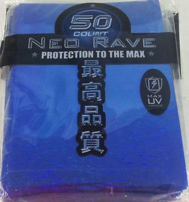 Max Protection Card Protection Neo Sleeves - Rave Blue (50) MINT