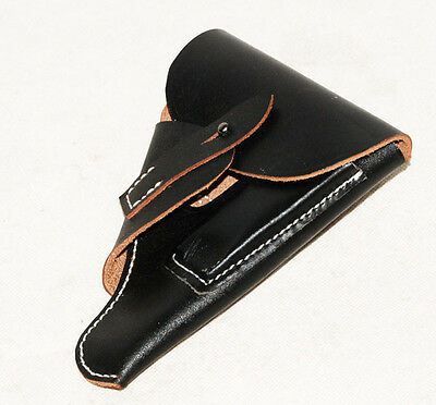Wwii German Black Leather Walther Ppk Holster -31506