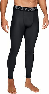 Under Armour HeatGear 2.0 Mens Compression Tights Black Gym Running Training UA