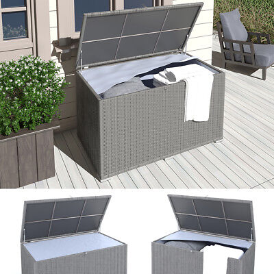 auflagenbox balkon awesome l perattan gartenbox auflagenbox kissenbox gartentruhe garten. Black Bedroom Furniture Sets. Home Design Ideas
