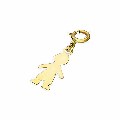 9ct Gold Charm Small stork and baby M2XaP3KM5
