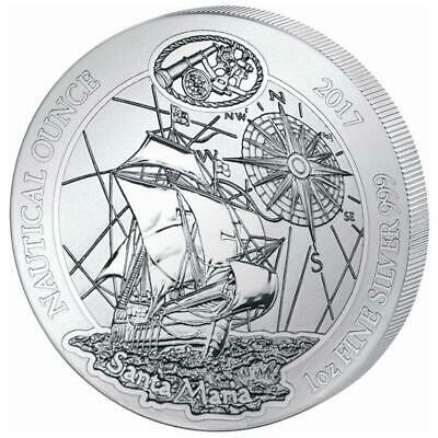 Ruanda 50 Francs 2017 Santa Maria - Nautical Ounce (1.) - 1 Oz Silber ST