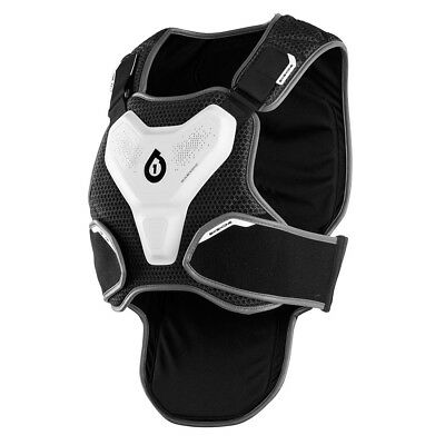 661 MOTOCROSS MX MTB BIKE EXO SHELL II PROTECTOR chest body armour WHITE / GREY