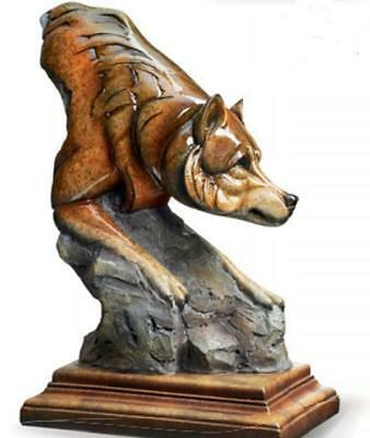 NEW Bashful Wolf Imago Sculpture Stephen Herrero Mill Creek Studios Wild Wings