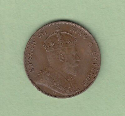 1902 Jersey 1/12 Shilling Bronze Coin - EF