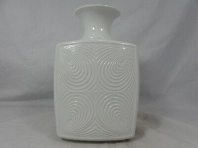 Cool 70´s Pop Art Design KAISER relief porcelain vase No. 64 glazed 19 cm