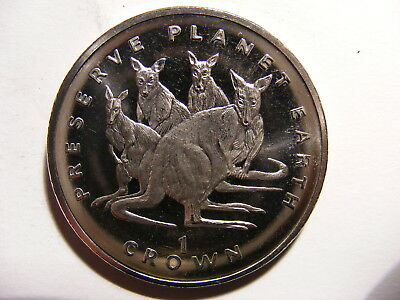 Isle of Man 1994, Preserve Planet Earth, C/N, KM#385, Kangaroos