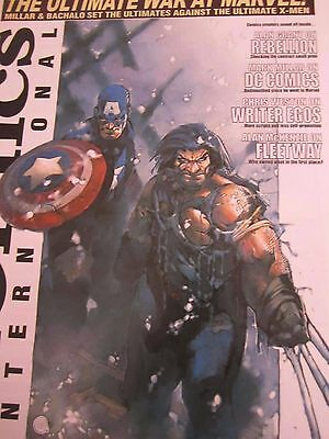 Comics International Magazine 151-Wolverine-Captain America cover-Mark Millar