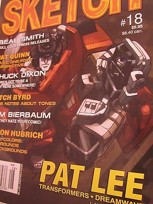 Sketch 18-Comic Art Magazine-Pat Lee-Chuck Dixon-Comics-Transformers