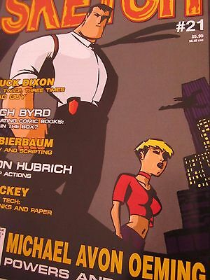 Sketch 21-Comic Art Magazine-Michael Avon Oeming-Chuck Dixon-Comics-Powers
