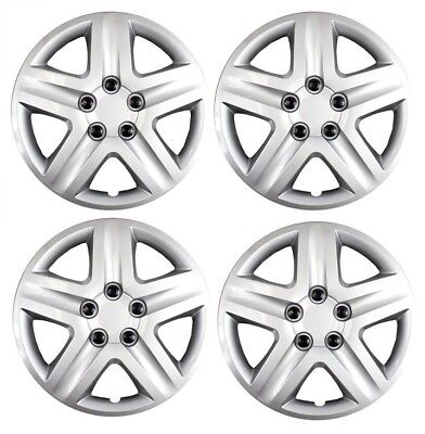 """New 2010 2011 2012 FORD FUSION 17"""" Silver Hubcap Wheelcover SET of 4"""