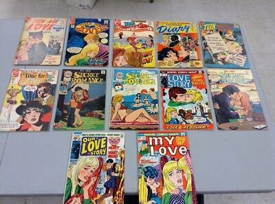 1950's 12 Romance Comics Time fo Romance,Sweetheart Diary,Our Love Story