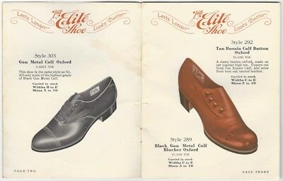 1910s Elite Shoe Men's Footwear Trade Catalog