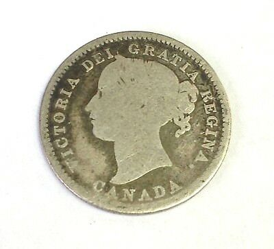 1858 Canada 10 Cents silver, Victoria, KM# 3 - First Year of Type