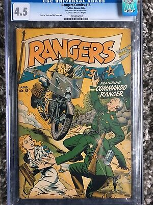 Ranger Comics # 18  CGC 4.5 Nazi War Cover
