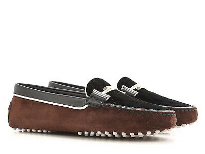 bf60a66382ceb TOD'S WOMEN'S ITALIAN driving moccasin shoes in brown suede leather ...
