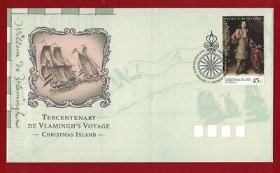 1996 Christmas Island Willem de Vlamingh's Discovery SG 433 FDC or fine used